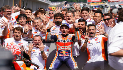 MotoGP: Marc Marquez claims his ninth consecutive German GP