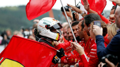 Vettel wins BelgianGP after avoiding massive first-lap crash