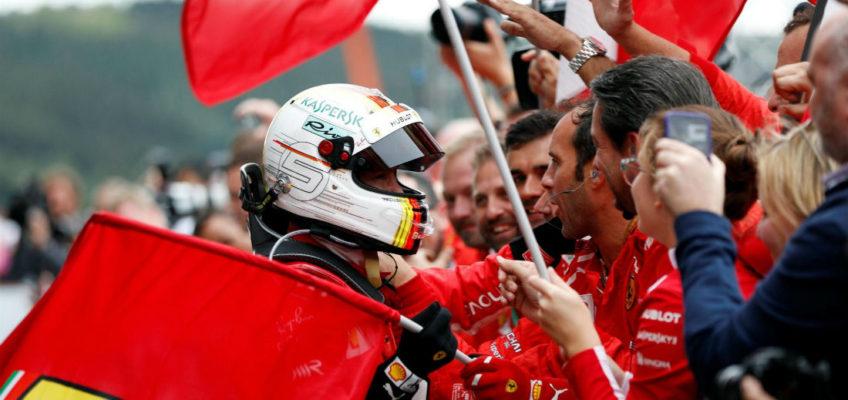 Vettel wins BelgianGP after avoiding massive first-lap crash