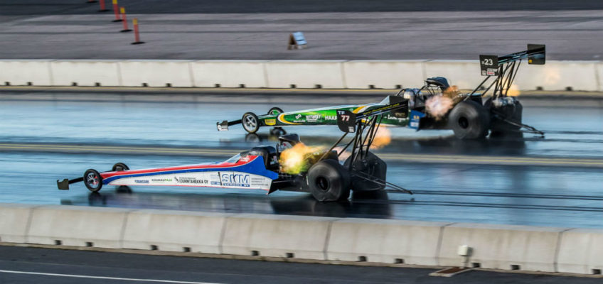 Grand finale of the European Drag Racing Competition at Santa Pod Raceway