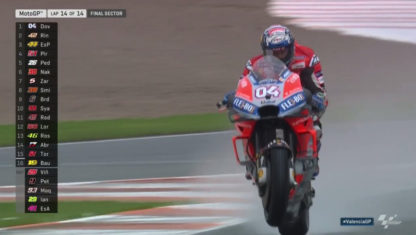 Valencia MotoGP: Masterclass of Dovizioso under the downpour in Cheste