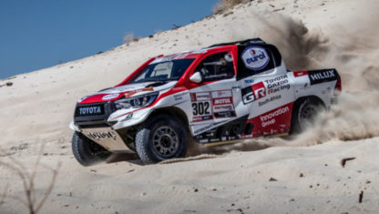 Fernando Alonso will test a Toyota from the Dakar in April