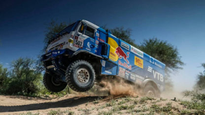 The biggest ever jump by a truck in a Dakar Rally