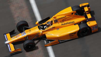 Why is Fernando Alonso racing with number 66 at Indy 500?
