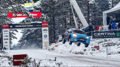 The 45-meter-jump record of Rally Sweden 2016