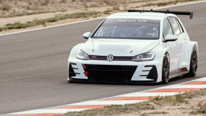 Volkswagen tests its Golf GTI TCR for the World Touring Car Cup 2019 in Spain
