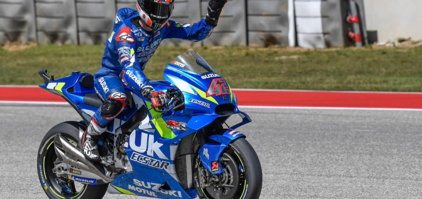2019 Americas MotoGP: Rins wins against Rossi and Marquez falls over