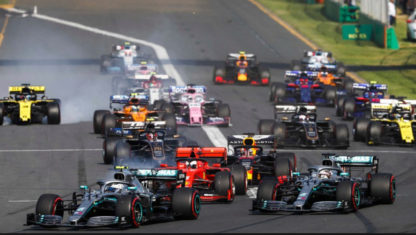 Which are the minimum distance and lap number of a F1 race?