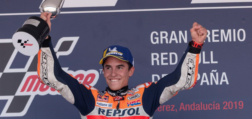2019 Spanish MotoGP:Marquez wins and takes back the lead in all-Spanish podium