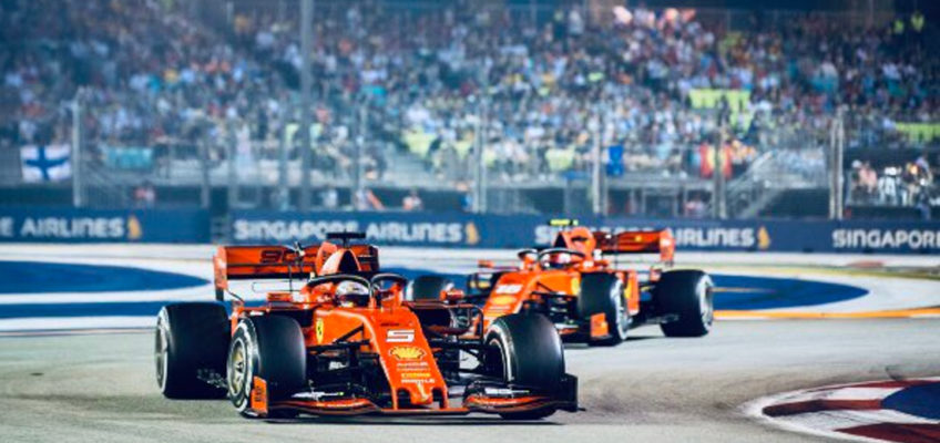 Singapore F1 GP 2019: Vettel leads shock 1-2 for Ferrari