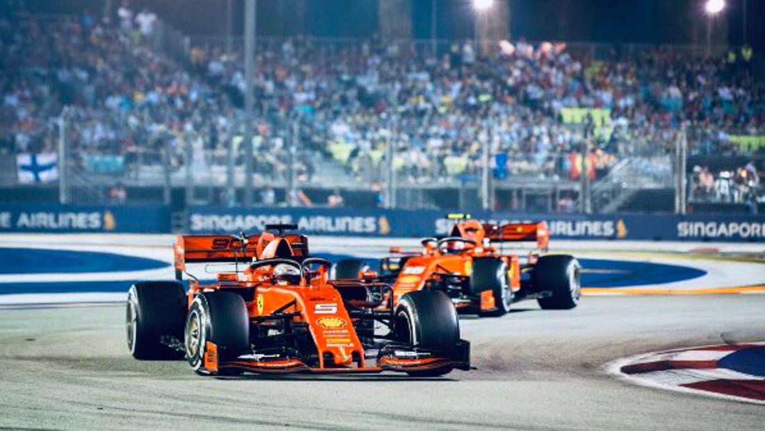 Singapore F1 Gp 2019 Vettel Leads Shock 1 2 For Ferrari Matrax Lubricants