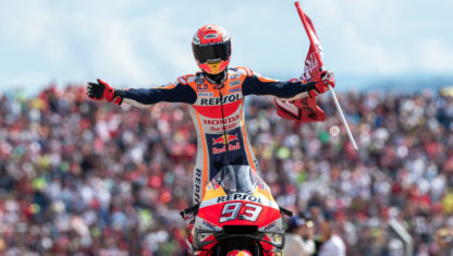 Marquez shines in Aragon and could secure title in Thailand