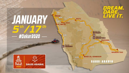 Dakar 2020 Saudi Arabia route revealed