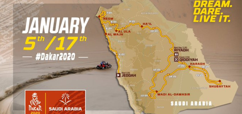 Dakar 2020 Saudi Arabia route revealed