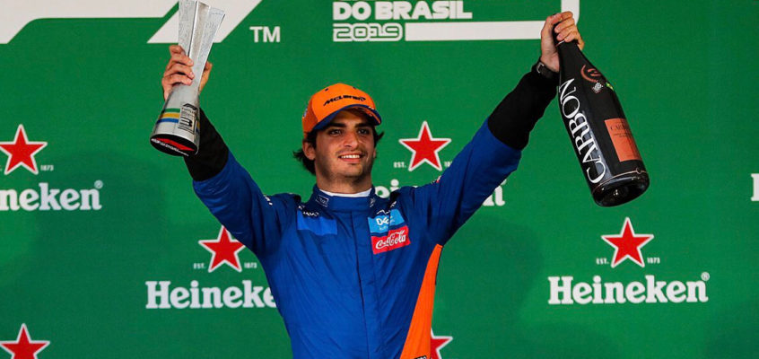 Carlos Sainz makes history with first F1 podium