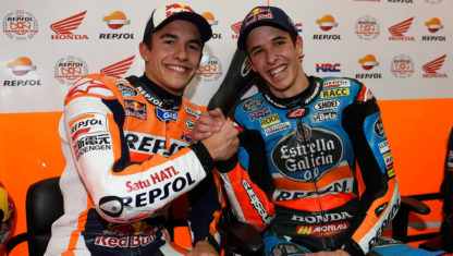 Alex and Marc Márquez together in the 2020 MotoGP HRC team