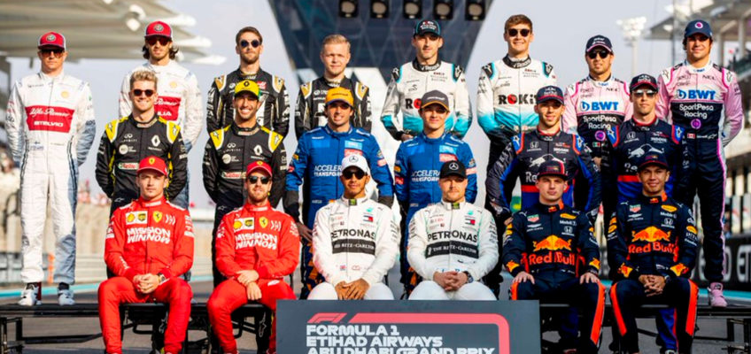 This is the 2020 Formula 1 grid