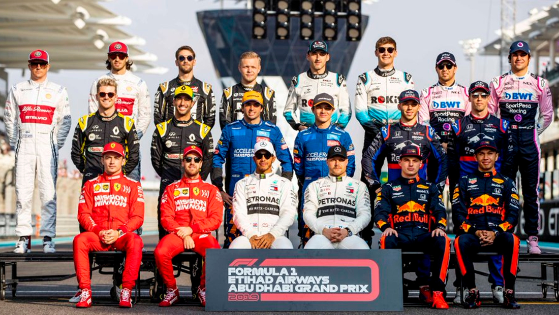 This Is The 2020 Formula 1 Grid Matrax Lubricants