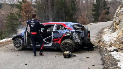 Tänak suffers horrific accident at Rally Monte Carlo