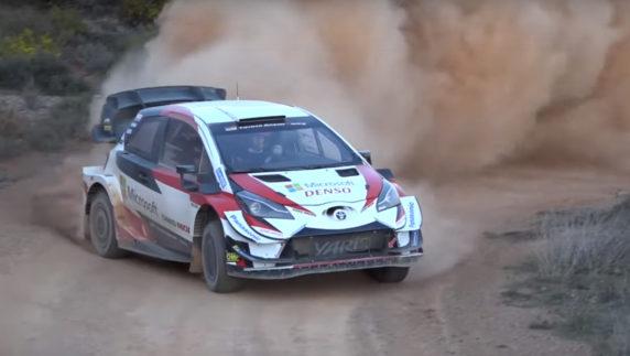 Toyota WRTtrains forRally Mexicoin Spain