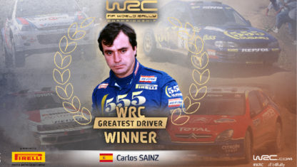 Carlos Sainz named best driver in WRC History