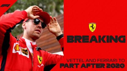 Sebastian Vettel to leave Ferrari in late 2020