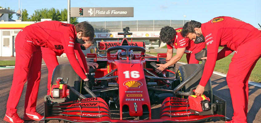 Ferrari, McLaren, Racing Point and Renault tests