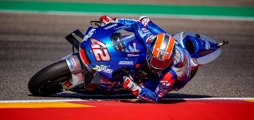 Rins takes the victory and teammate Mir goes on the lead