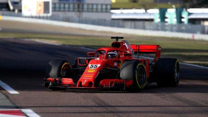 Carlos Sainz makes Ferrari F1 debut at Fiorano