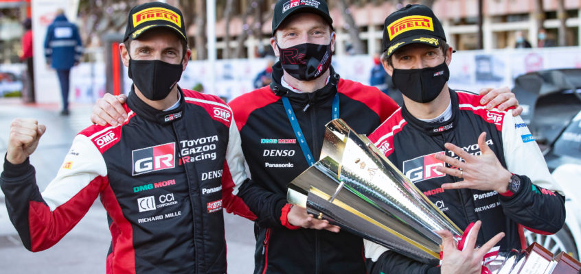 Eighth record win of Sebastian Ogier at Rally Montecarlo 2021