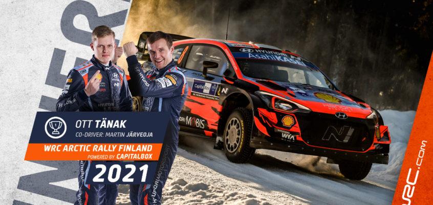 Arctic Rally Finland: Tänak dominates and Rovanperä takes the lead