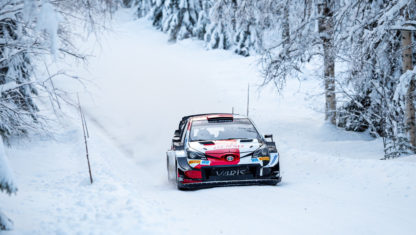 Toyota WRC preparing for Arctic Rally in Finland