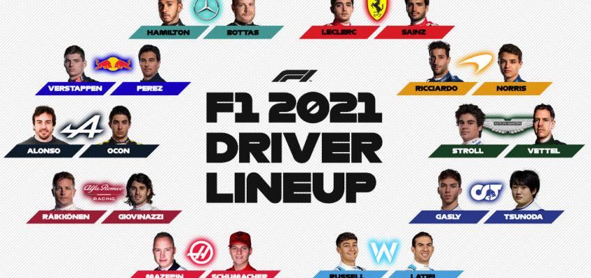Full 2021 Formula One grid confirmed
