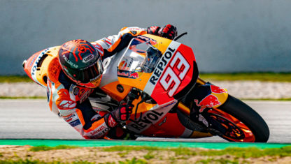 Marc Marquez rides his first motorbike after an 8-month convalescence