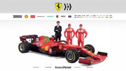 Ferrari unveils Sainz and Leclerc's new SF21 for 2021 season