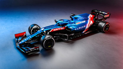 Alonso and Ocon's 2021 Alpine A521 unveiled
