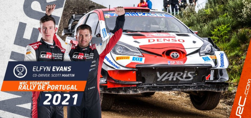 WRC 2021: Evans consolidates title bid with Rally de Portugal win