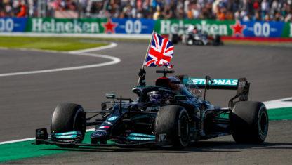 F1 British GP: Hamilton wins after clashing with Verstappen